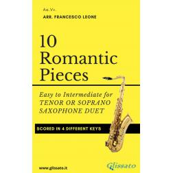 10 Romantic Pieces for Bb Sax Duet