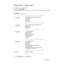 """tema da """"Il lago dei cigni"""""""