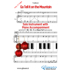 Go Tell it on the Mountain - Solo with piano acc. (key C)