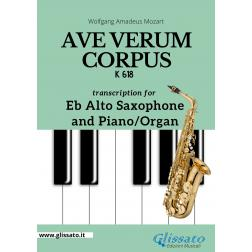 Ave Verum Corpus - Eb Alto Sax and Piano/Organ