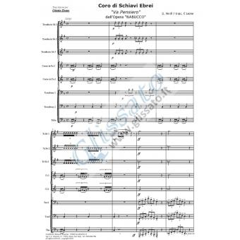 Coro di schiavi ebrei (brass 8et)
