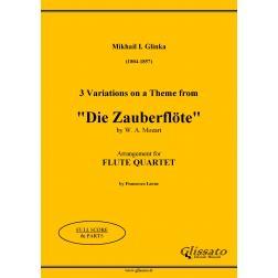 """3 Variations on """"Die Zauberflöte"""" (Flute 4et)"""