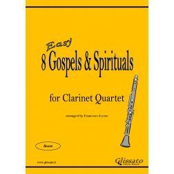 8 Gospels & Spirituals - Clarinet quartet (easy)