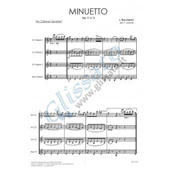 Minuetto (Clarinet 4et)