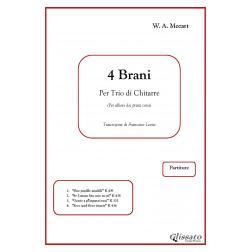 Mozart - 4 Brani per Trio di Chitarre
